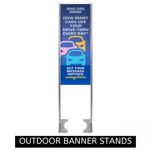 Outdoor Banner Stand - BannerFlex GMS Messenger